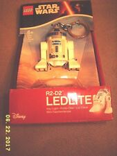 Disney LEGO STAR WARS R2-D2 LEDLITE Figure Light LED Lite Torch Keychain #KE21