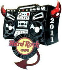 Hard Rock Cafe LAS VEGAS 2011 DEVIL'S RADIO PIN Boom Box with Horns - HRC #67649