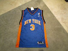 Adidas Stephon Marbury New York Knicks Jersey Youth Small Blue Basketball  NBA 5408ed53a