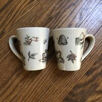 HTF DISNEY Winnie the Pooh 100 Acre Woods mug Cup set of 2