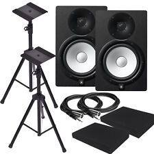 Yamaha HS8 Black Powered Studio Monitor w/ XLR3M Cables, HS8 Cable Bundle *New*