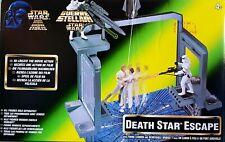 Star Wars Estrella De La Muerte Escena De Escape Nuevo 1997 con cañones de disparo y extraíble Puente
