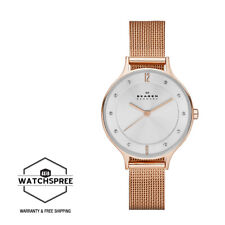 Skagen Ladies' Anita Rose Gold Tone Steel Mesh Watch SKW2151