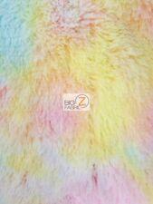 SOLID SHAGGY MINKY FABRIC - Rainbow - BY THE YARD BABY SOFT BLANKET DECOR