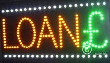 QUALITY  FLASHING  LOAN £ led new window shop signs