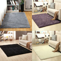 Fluffy Rugs Anti-Skid Shaggy Area Rug Carpet Rectangle Floor Mat Home Bedroom
