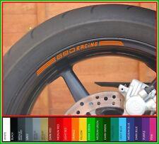 8 x KTM 690 RACING Wheel Rim Stickers Decals - 20 Colors - Duke supermoto smc sm