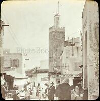 MAROC Tanger Maghreb 1904, Photo Stereo Grande Plaque Verre VR9L5n7