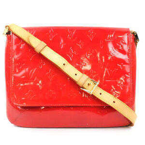 LOUIS VUITTON Louis Vuitton Bag Vernis Thompson Street M91094 Rouge Semi Sho...