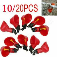 Poultry Water Drinking Cups w/ Nuts- Chicken Plastic Automatic Drinker 10/20pcs