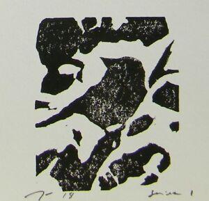 JOSE TRUJILLO Art NEW Woodcut Print Relief Prints ORIGINAL Bird Art  - Series 1