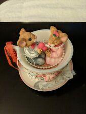 San Francisco Music Box Company Two Mice/Tea Cup 41-73002-2-00 Free Ship