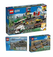 Lego City 60198 Cargo Train, 7895 Switching Tracks & 60205 Train Track ~ NEW ~