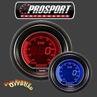 Prosport EVO Digital Boost Gauge RED BLUE 52mm Waterproof sensor