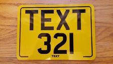 8x6 Reflective text motorcycle kids plate novelty bike plate not number plate