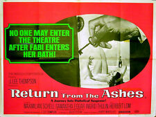 RETURN FROM THE ASHES 1965 Maximilian Schell, Samantha Eggar UK QUAD POSTER