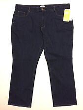 "Plus 24 Coldwater Creek ""Shape me"" Curvy 46 X 32 Blue Jeans Stretch NWT"