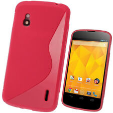 Red Dual Tone TPU Gel Case for LG Google Nexus 4 E960 Android Skin Cover Shell