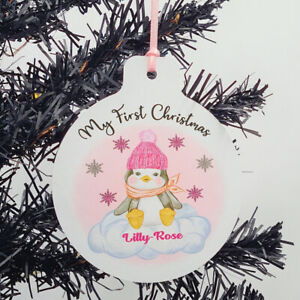 Personalised My First Christmas Tree Decoration - Baby Girl - 1st Xmas