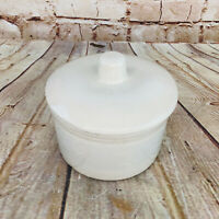 Vtg Crock Pottery Jar Stoneware Cookie Food Storage Container w Lid Farmhouse