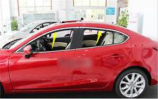 Stainless steel Upper window frame sill Trim 4pcs For Mazda 3 AXELA M3 2014 2015