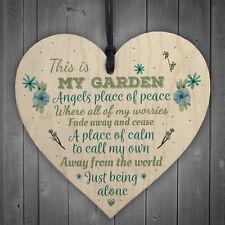 My Garden Novelty Heart SummerHouse Friendship Sign Garden Shed Gift For Women