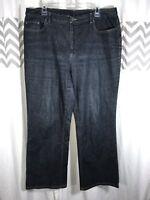 Talbots Dark Wash Denim Jeans Size 14W Boot Cut Legs Size 14 Women's