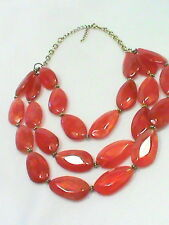 Chunky 3 strand Acrylic faceted bead Necklace