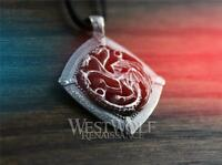 Game of Thrones Targaryen Dragon Pendant - .925 Sterling Silver Jewelry Necklace