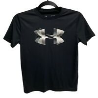 Boys Under Armour Size Youth Large Loose Heat Gear Black Shirt