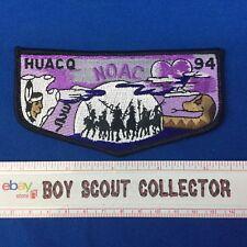Boy Scout OA Huaco Lodge 327 1994 NOAC Order Of the Arrow Pocket Flap Patch