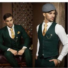 Custom Made Dark Green Men Wedding Suits Groom Tuxedos Formal Prom Suits 3 Piece