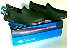 Worn 3 Time Skechers Go Walk 5 Polished Black Womens Girls Shoes SNEAKERS Size 8