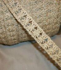 Trimits Christmas Metallic Rose Gold Polka Dot Woven Hessian Ribbon 50mm