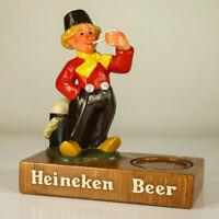 Heineken Beer Werbe Figur Bier Brauerei Keramik Holland Fischer Holzschuh 60er