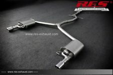 RES Valvtronic Catback +1 Tailpipes Each Side FOR Audi A4 B8 8KH 13-16 1.8T/2.0T