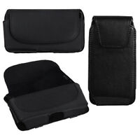 Universal Premium Leather Belt Clip Case Pouch Belt Clip Cell Phone Smartphone