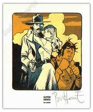 Ex-libris Bonhomme Texas Cowboys signé 9,7x11,7 cm