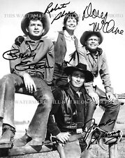 THE VIRGINIAN CAST SIGNED AUTOGRAPH 8x10 RPT PHOTO JAMES DRURY DOUG MCCLURE +