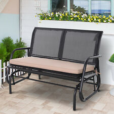 Outsunny 2-Seater Replacement Swing Chair Cushions Patio Garden Seat Pad - Beige