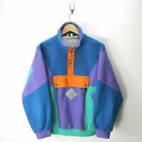 *90's Retro Vintage Nordica Men's Multicolored Fleece Sweater Size S  EF7097