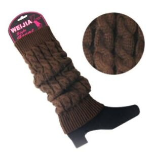 Women Winter Warm Leg Warmers Cable Best Ladies Knitted Socks Legging Crochet