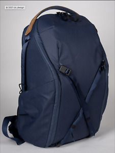 Everyday Backpack 20L Zip V2 // Midnight with Hip Belt and 3rd divider