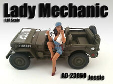 LADY MECHANIC JESSIE FIGURE 1:18 SCALE DIECAST MODEL CARS AMERICAN DIORAMA 23860
