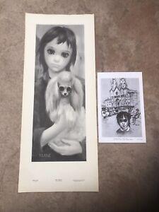 2 Margaret Walter Keane Prints Big Eyes Vintage 1960's Midcentury