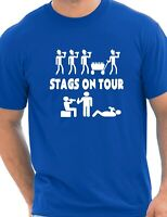 Stags On Tour Stag Do Stag Night Novelty Mens T Shirt Size S-XXL
