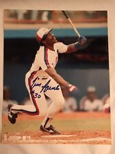 Tim Raines Autographed Photo-Framed-with Authenticity