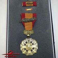 U.S. MILITARY MEDAL VIETNAM GALLANTRY CROSS w/ BRONZE PALM DEVICE. BOX, RIBBON