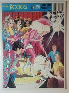 Vintage 1987 Mattel Barbie and the Rockers Golden and Frame Tray Puzzle