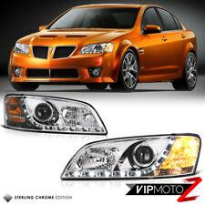 08-09 Pontiac G8 GT/GXP LED Angel Eye Halo Chrome Projector Headlight L+R Set